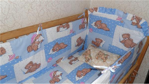 Готовый бортик для детской кроватки