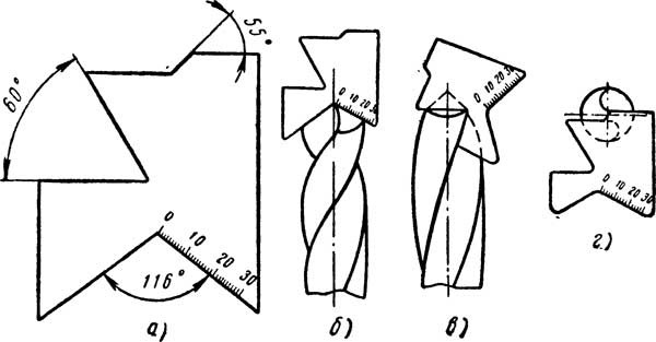 Шаблон для проверки правильности затачивания сверла и этапы проверки