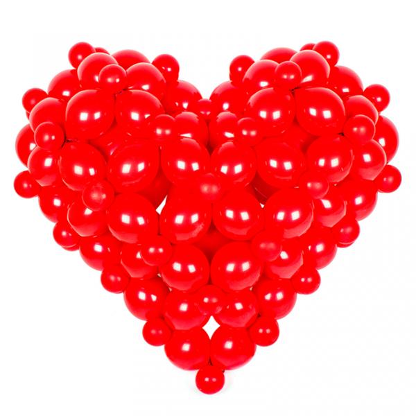 Объемное сердце из шаров