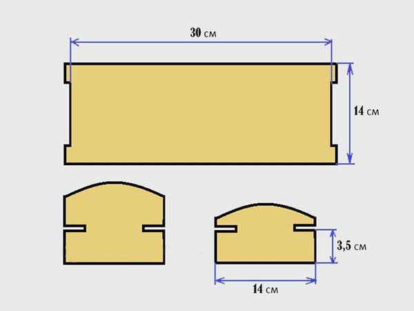 Каркас простой кукольной кроватки из фанеры
