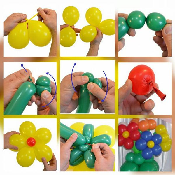 Как сделать руку из шаров мастер-класс