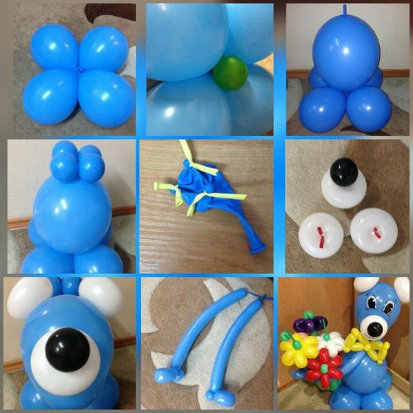 Поделки из простых шариков