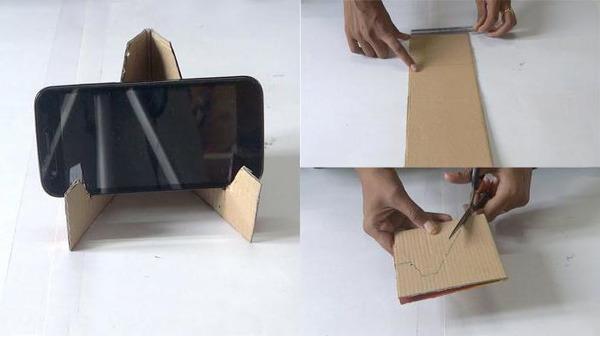Устойчивая подставка из картона