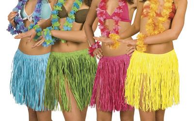 Как сделать гавайскую юбку своими руками пошагово с