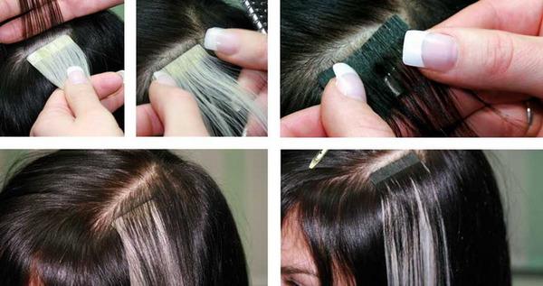 Волосы на ленте можно использовать для долгосрочного наращивания