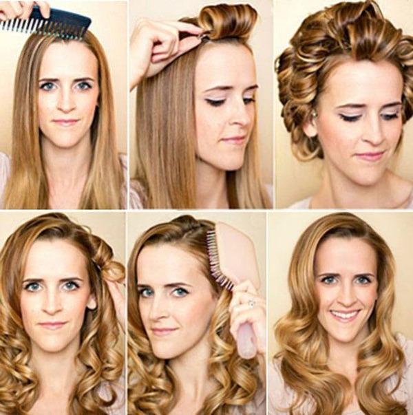 Технология накручивания локонов на средних волосах