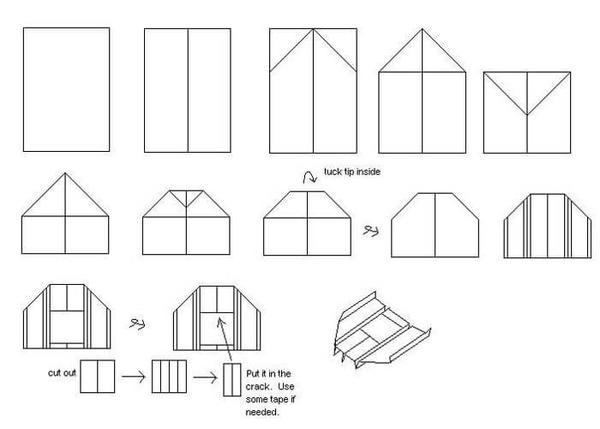 Схема сборки самолётика-бумеранга