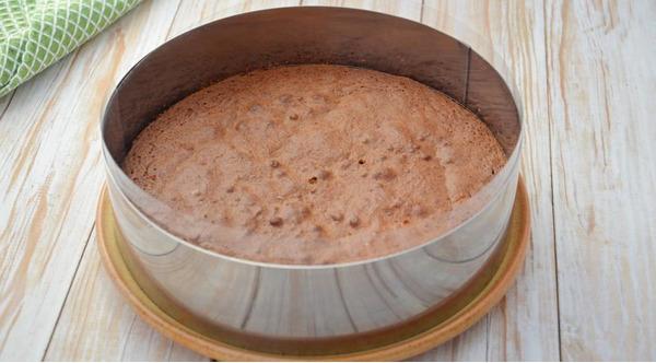 Готовый бисквит в форме