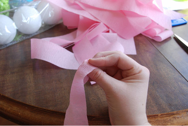 Ленты для декора цифры бумагой
