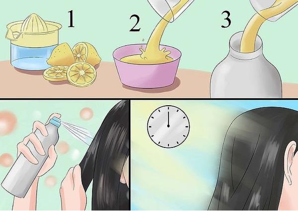 Простой способ осветления волос с помощью лимона.