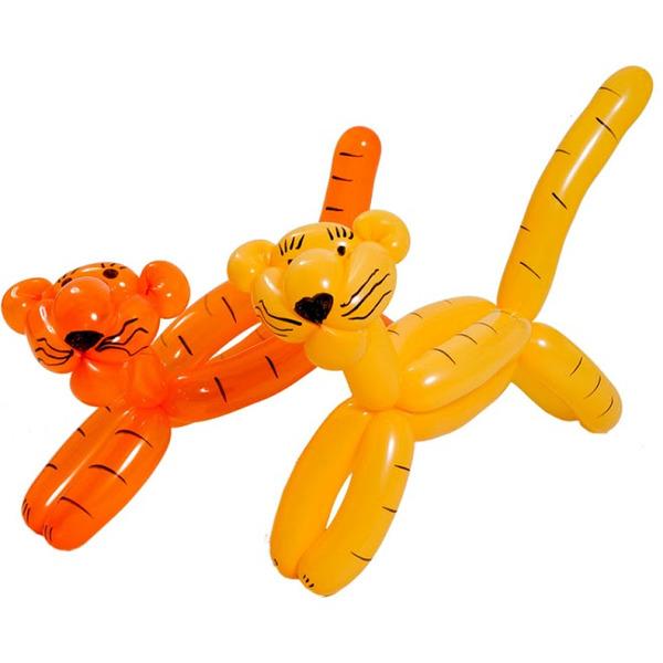 Фигура из тигра с помощью длинных шариков