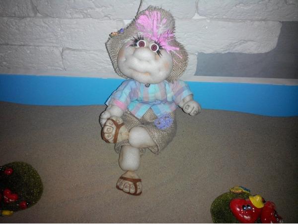 917 Утяжка лица текстильной куклы подробно: мастер класс с видео