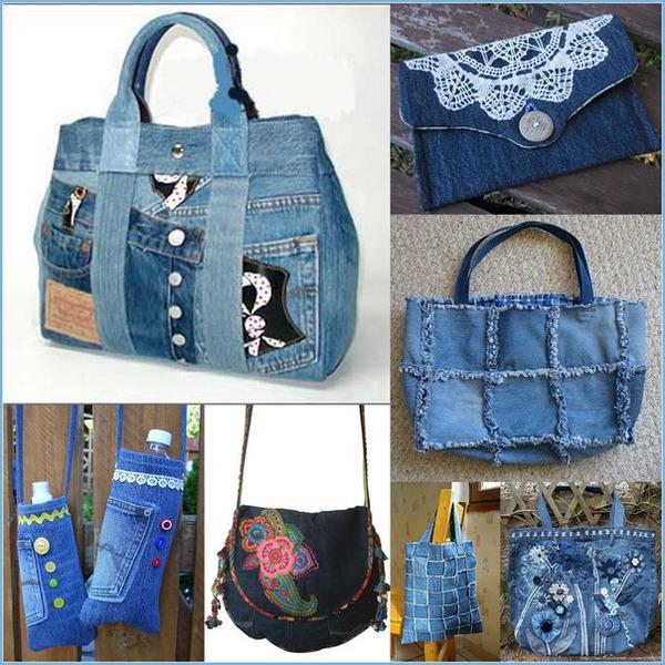 921 Интересные варианты пошива сумок из старых джинс